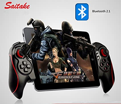 Saitake Second Generation Wireless Bluetooth Game Controller Gamepad Joypad Joystick With Clip For Android Phone Samsung Gear Vr Htc S7 Note 5 Linux Lg Tablet Emulators Supports Android Ios Red Amazon Co Uk Electronics
