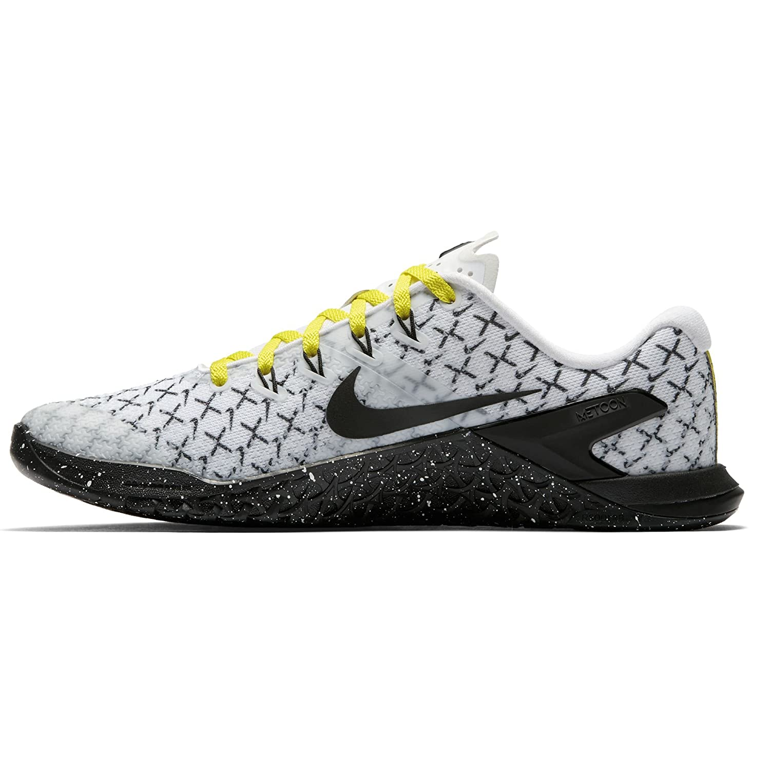 NIKE Women Metcon 4 Training Shoe Grey B0789SNQMW 8.5 M US|White/Black/Yellow