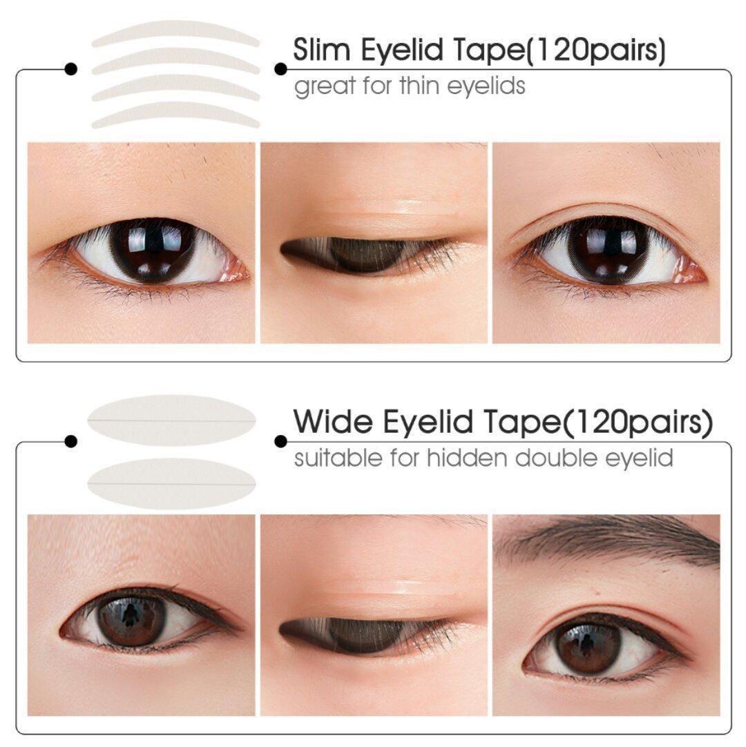 Amazon 480pcs Invisible Single Side Fiber Double Eyelid Tape