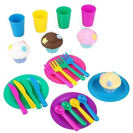 Peradix Set Accessori Cucina Bambini Piatti Cupcake Tazzine ...