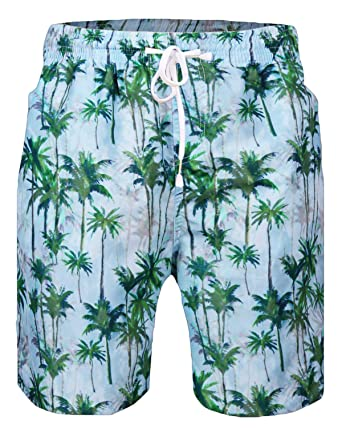 34465d9084d2d Sykooria Mens 3D Graphic Colorful Beach Coco Tree Shorts Running Swimming  Casual Shorts