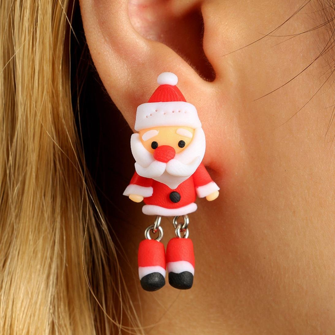 GreatFun Lovely Santa Claus Christmas Women Earrings Drop Dangle Earrings New Year Gift Fashion Jewelry