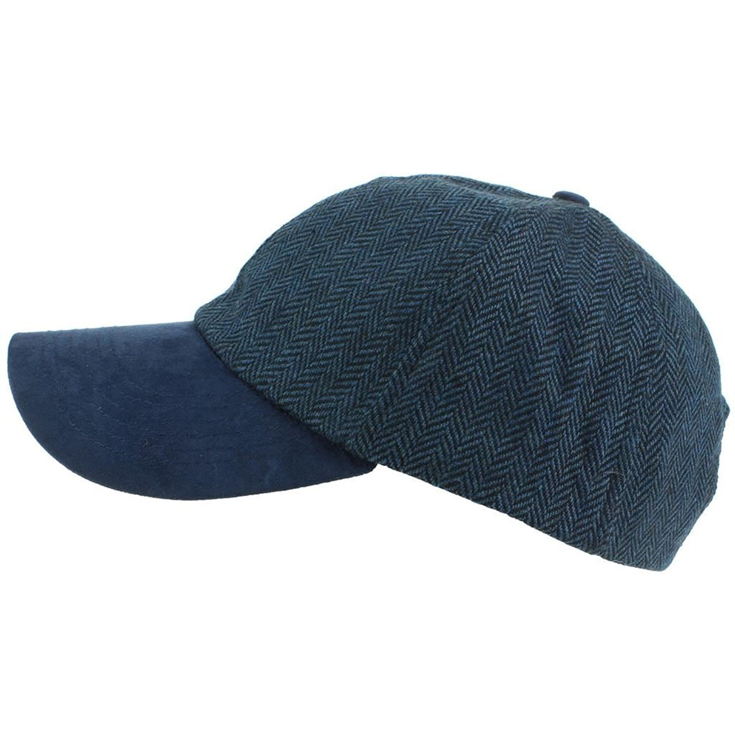 8b5ec64b736 Hawkins Wool Tweed Herringbone Baseball Cap - Blue  Amazon.co.uk  Clothing