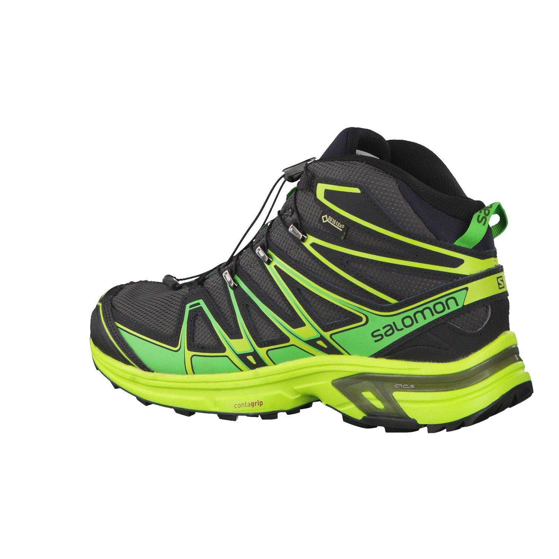 Salomon L39046600, Stivali da Escursionismo Alti Uomo, Grigio (Asphalt/Peppermint/Granny Green Asphalt/Peppermint/Granny Green), 44 2/3 EU