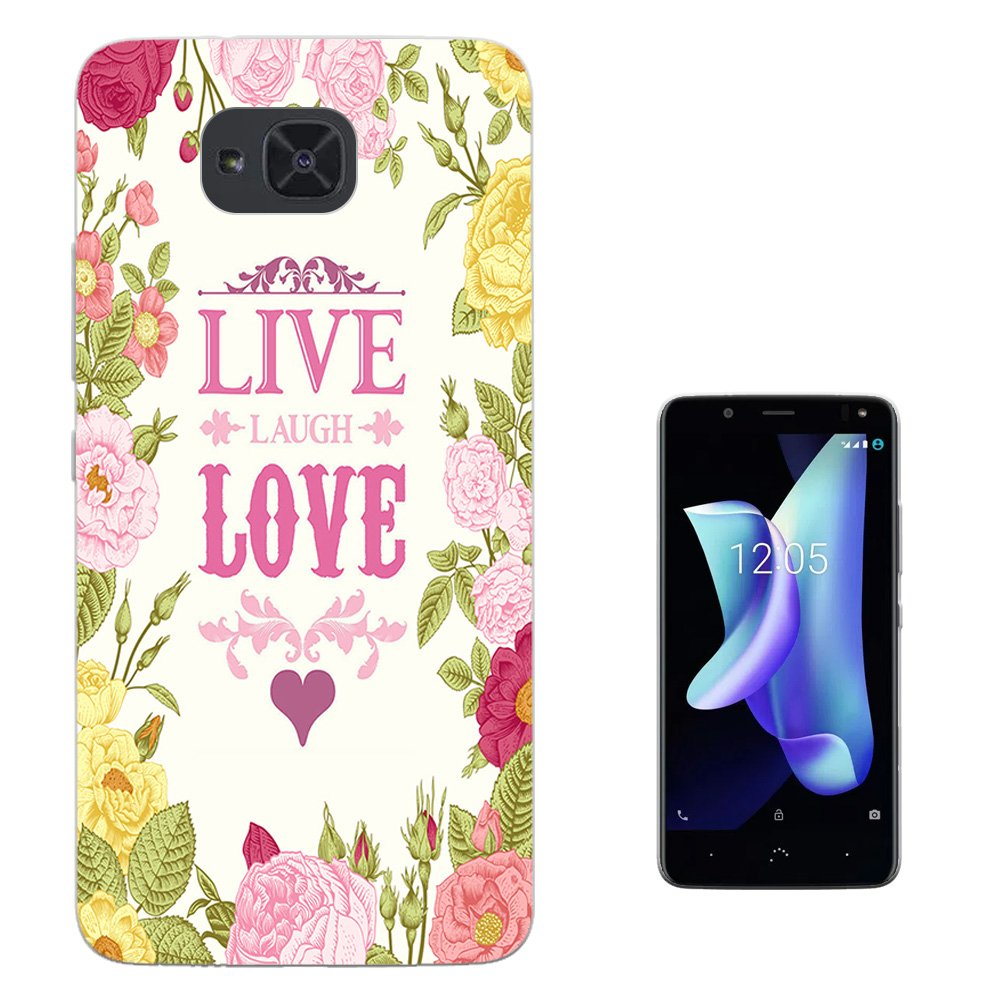 Amazon.com: 000526 - Floral Shabby Chic Roses Live Love ...