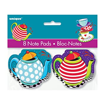 Amazoncom Mad Hatter Tea Party Notepad Favors 8ct Kitchen Dining