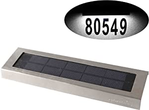 Solar Lights Outdoor for House Numbers - Outdoor Solar Light for Address Sign Plate - Wall Light for Home,Garden and Yard