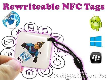 Gadget Hero's Rewritable Programmable NFC Tag Waterproof Keychain