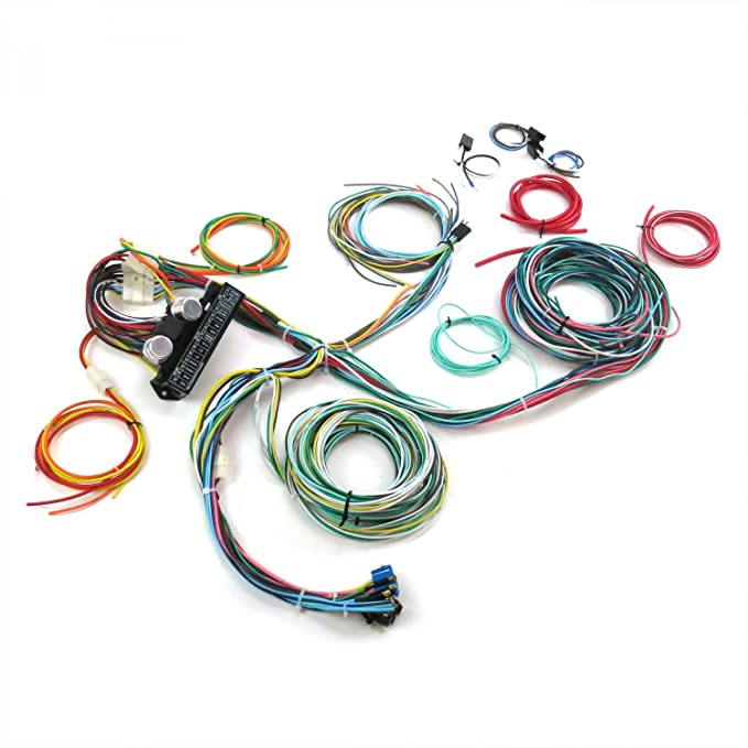 amazon.com: keep it clean 689406 wiring harness (ultimate 15 fuse 12v  conversion 40 1940 ford coupe-club,standard,deluxe): automotive  amazon.com