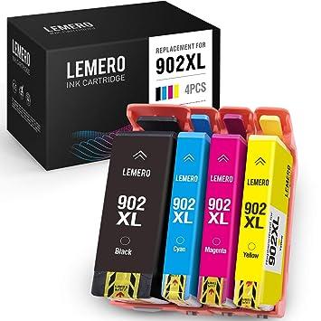Amazon.com: LEMERO - Cartuchos de tinta remanufacturados ...