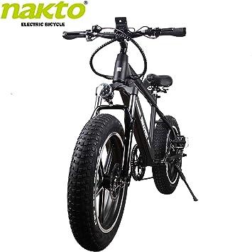 Nakto Bicicletas eléctricas de 20 Pulgadas con batería de Litio ...