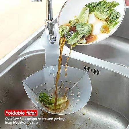 Colino Per Lavandino Da Cucina Con Filtro Pieghevole Facile Da Affondare Lavello Utensili Con Ventosa Lavabo Pieghevole Da Cucina 42 X 17 cm