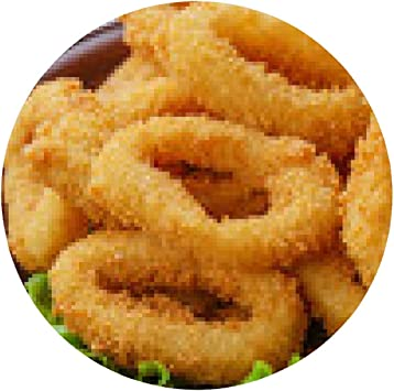 alfombrilla de ratón anillos de calamar fritos empanados con ...
