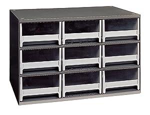 Akro-Mils 19909 9 Drawer Steel Parts Storage Hardware and Craft Cabinet, Grey