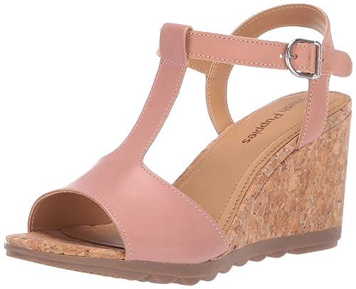 2d858ad96b967 Hush Puppies Women's Pekingese Tstrap Platform Sandals: Amazon.co.uk ...