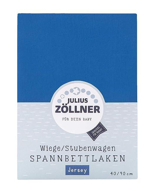 Julius Zöllner Spannbetttuch Spannbettlaken Tencel 90x40 hellblau 3er Pack NEU