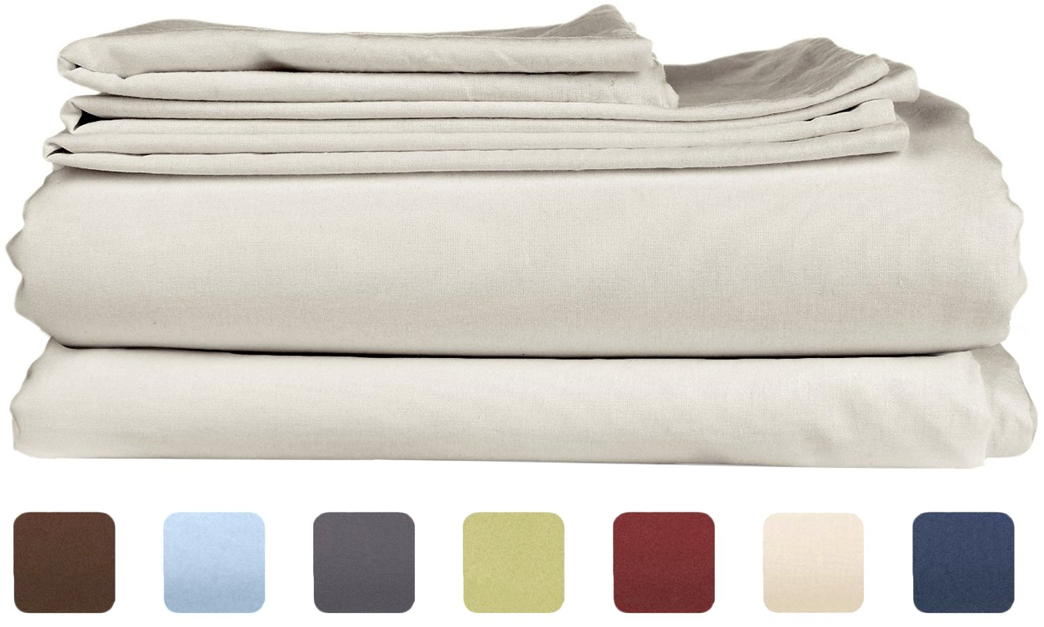 King Size Sheet Set - 6 Piece Set - Hotel Luxury Bed Sheets Gray