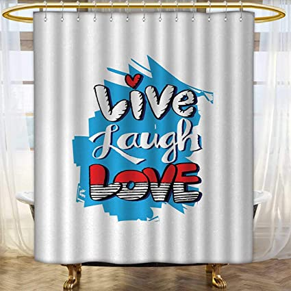 Live Laugh Love Shower Curtain Collection By Abstract Grunge Graffiti Happiness Invoking Message Wall Art Design