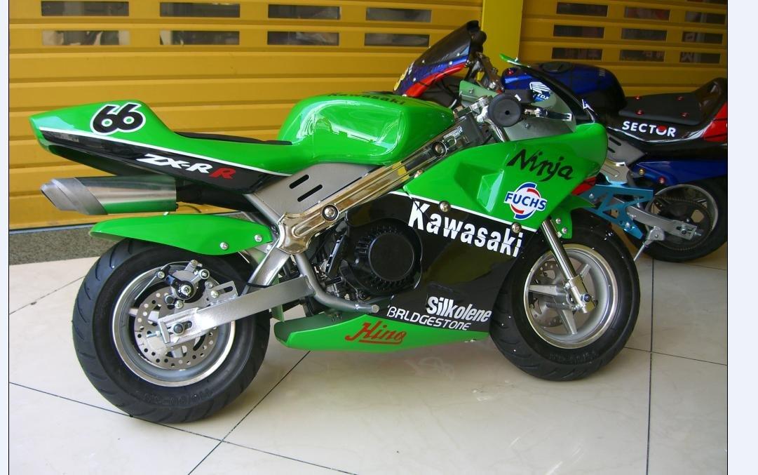 Buy Petrol Mini Moto Racing Sports Pocket Bike Green Online At