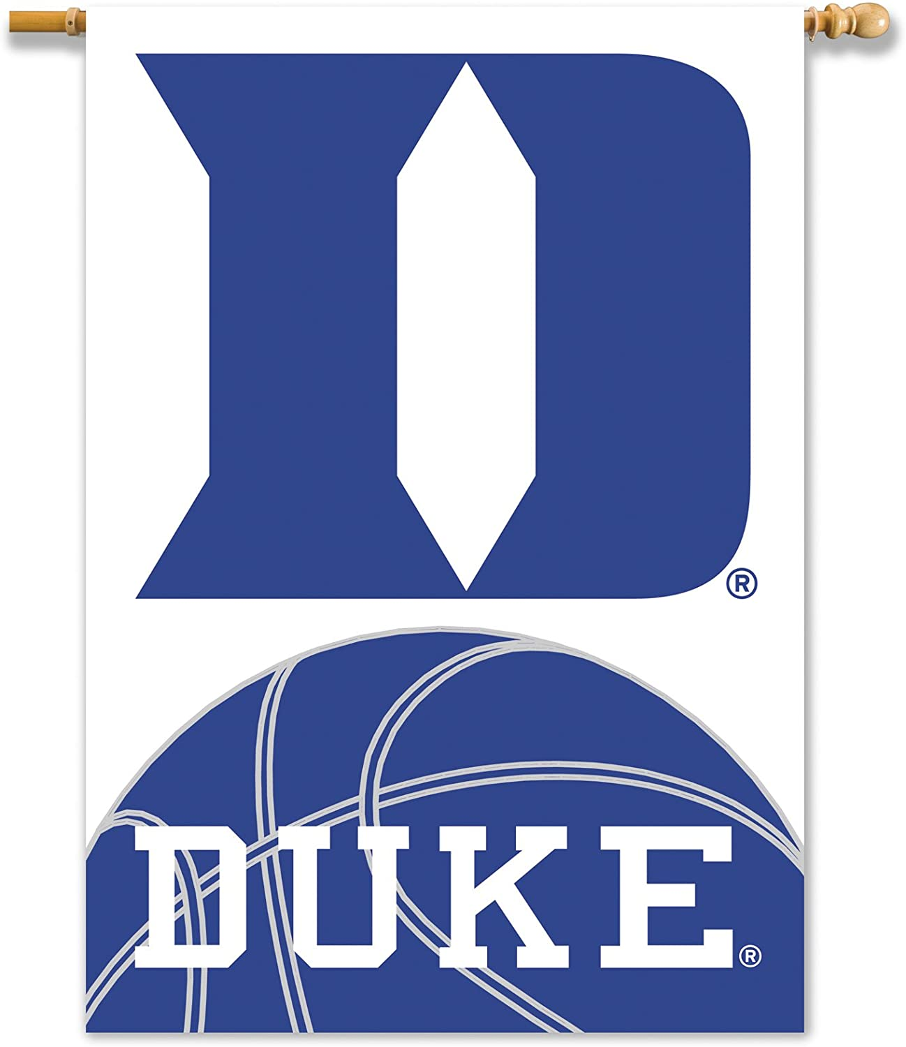 NCAA Duke Blue Devils 2-Sided 28x40-Inch Banner with Pole Sleeve