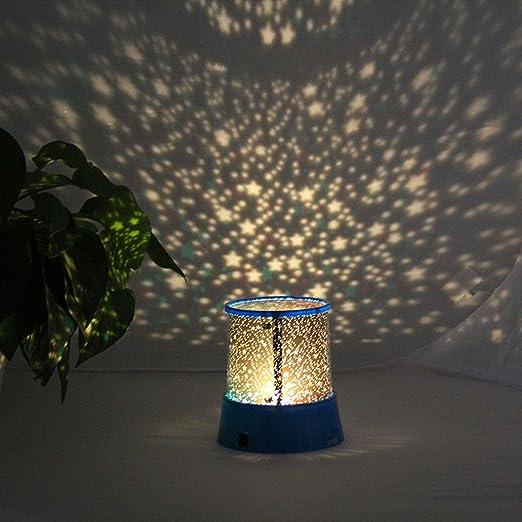 Amazon.com: LED luz nocturna estrella bebé niños dormir USB ...