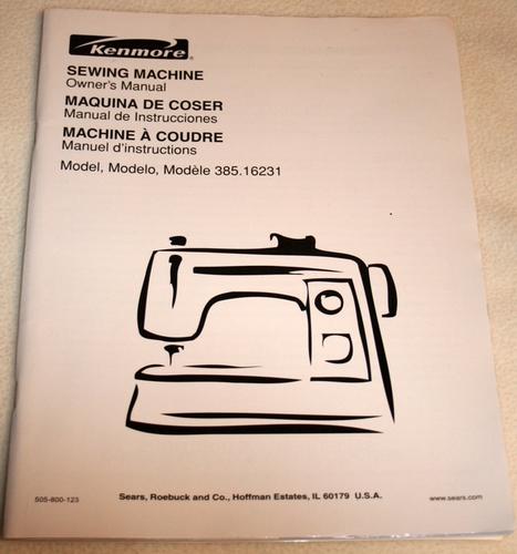 Kenmore Sewing Machine Owner's Manual Model 4040 Sears Simple Kenmore Sewing Machine Model 385 Owners Manual