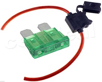 amazon com 8 gauge inline atc fuse holder with 30 amp fuse with 250 Amp Fuse image unavailable