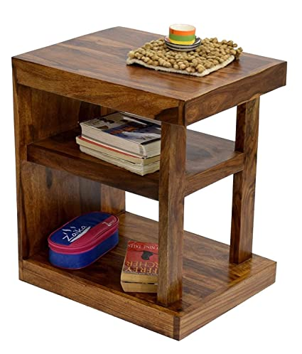Side Table India.Unique Furniture India Craft Sheesham Wood End Bedside Table Standard Brown