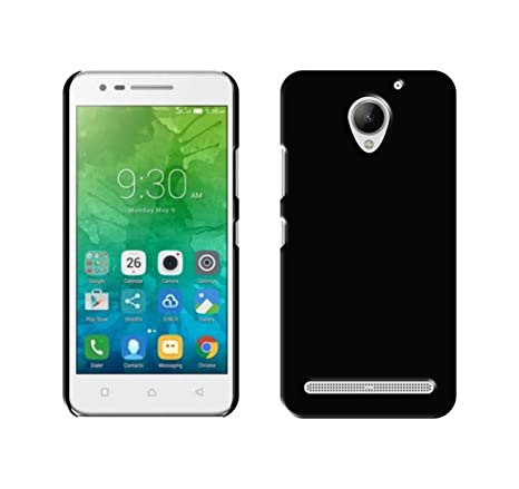 Case Creation Matte Rubberized Finish Frosted Hard Back Case Cover For  Lenovo Vibe C2 K10A40 - Pitch Black
