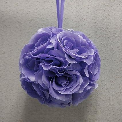 Amazon homeford fpf00000250228la silk flower kissing balls homeford fpf00000250228la silk flower kissing balls wedding centerpiece 6 inch lavender mightylinksfo