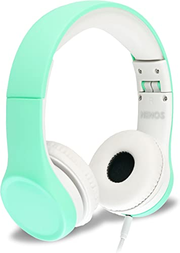 Nenos Children Headphones Kids Headphones Children s Headphones Over Ear Headphones Kids Computer Volume Limited Headphones for Kids Foldable Mint