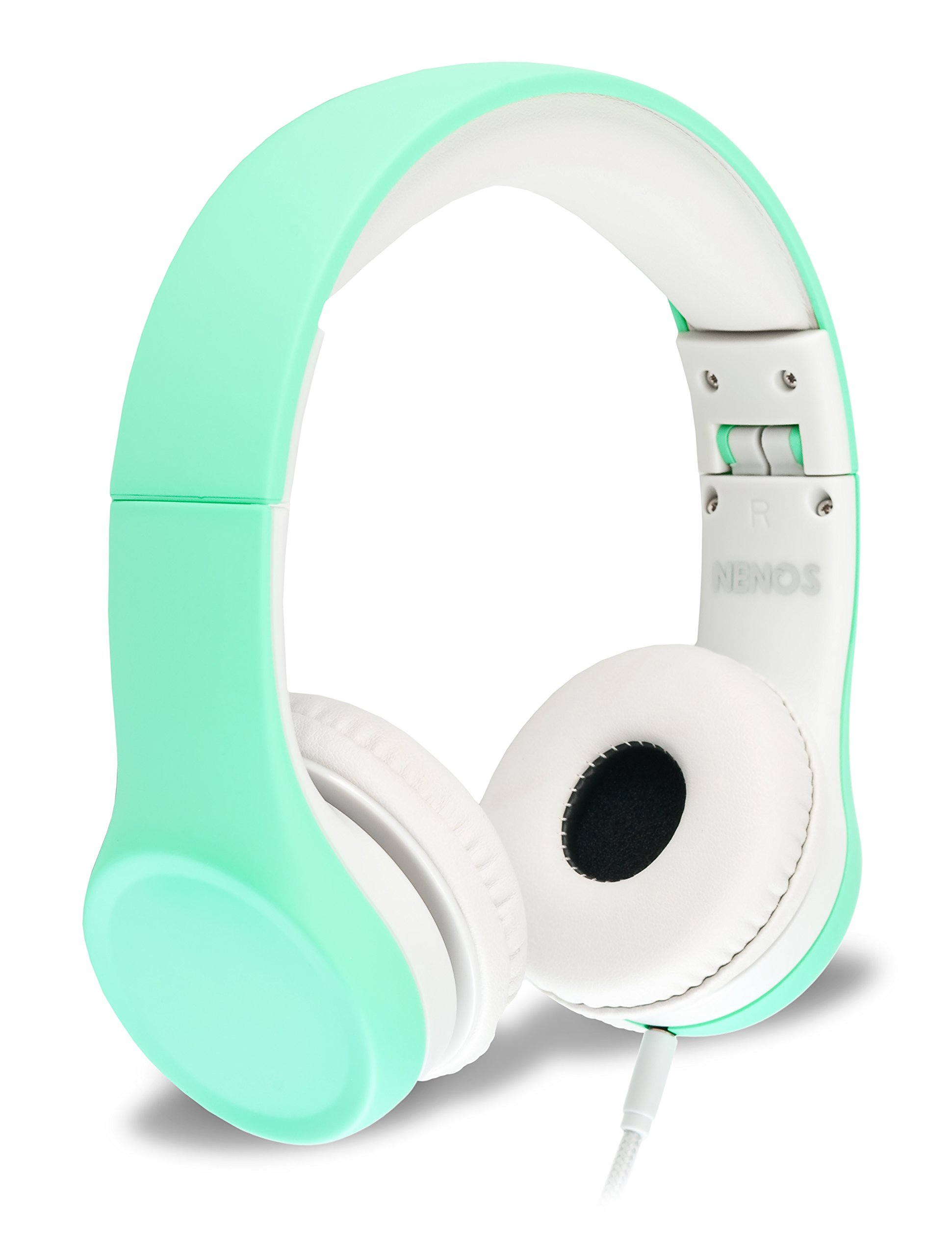 Nenos Children Headphones Kids Headphones Children's Headphones Over Ear Headphones Kids Computer Volume Limited Headphones for Kids Foldable (Mint) by Nenos