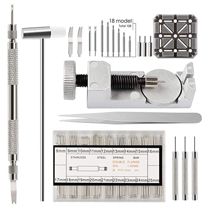 Watch Link Remover Kit For Watch Band Adjustment And Repair by Se Morrow