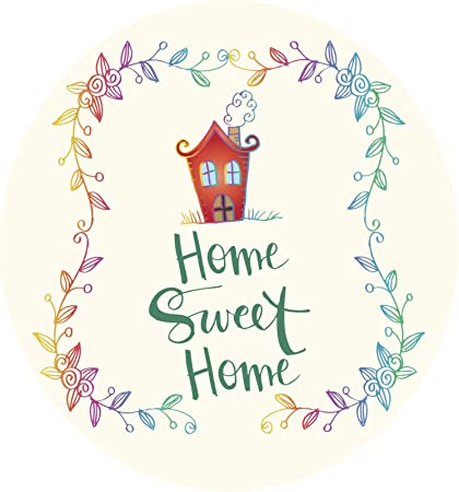 """Home Sweet Home Door or Window Decal 4/"""" tall ~Choose Vinyl Color GREAT GIFT"""