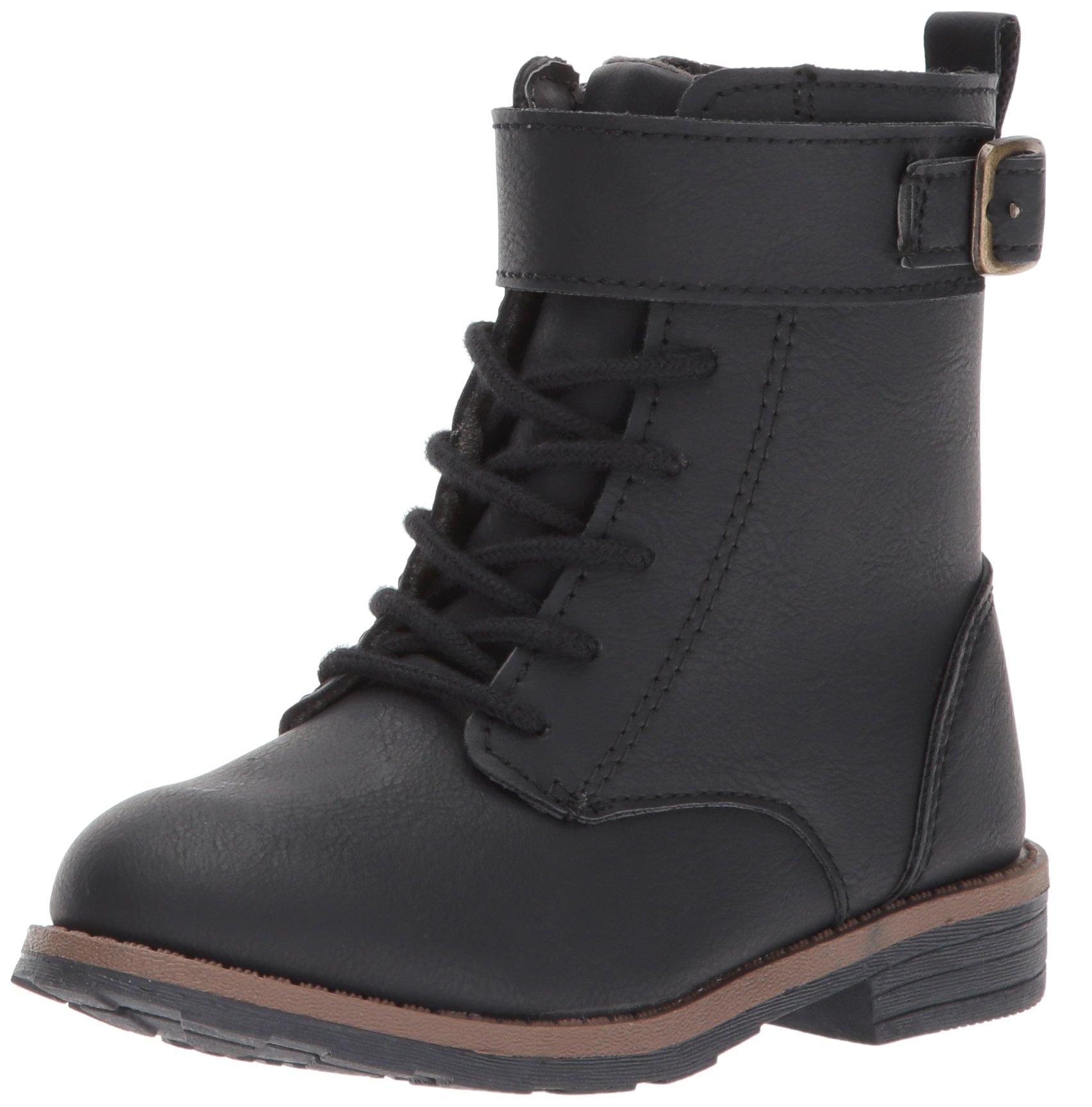 Carter's Girls' Comrade2 Fashion Boot, Black, 11 M US Little Kid