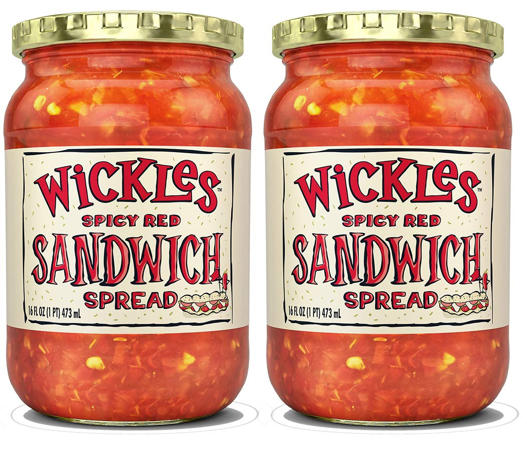 Wickles Spicy Red Sandwich Spread, 16 OZ (Pack of 2) by Wickles