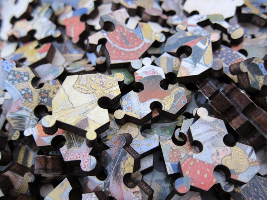 Krishna Fighting Wooden Jigsaw Puzzle Artifact Puzzles