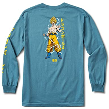 0ce964b5 Image Unavailable. Image not available for. Color: Primitive Super Saiyan  Goku LS Tee ...