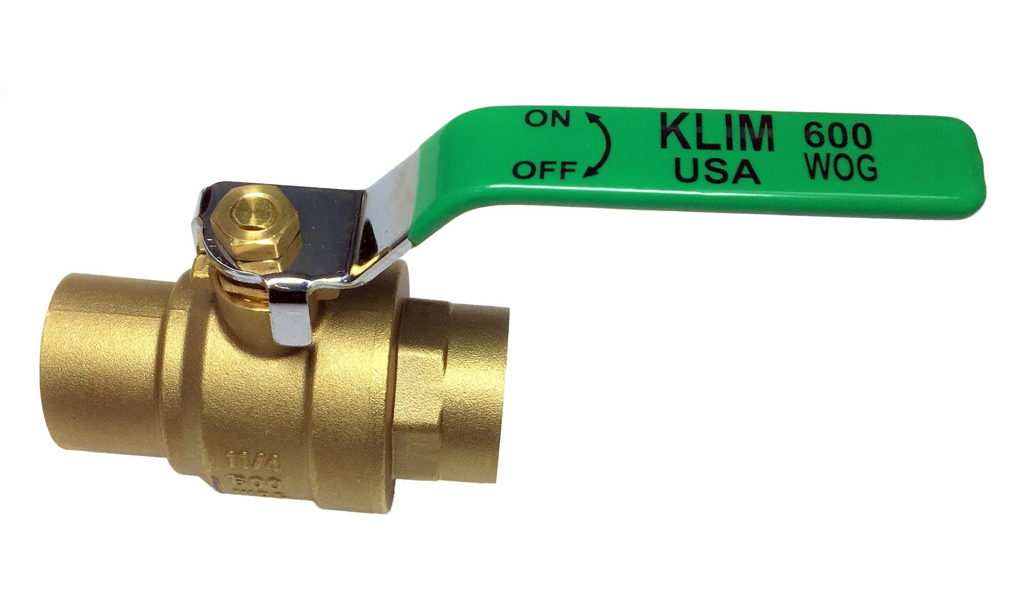 (pack of 10) 3/4'' Sweat (CxC) Lead Free Brass Ball Valve Full Port Shut-Off 600psi WOG