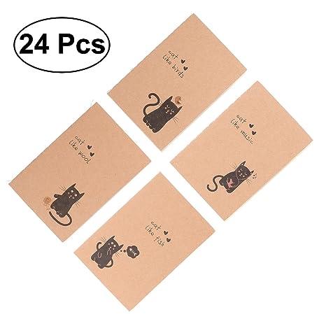 Amazon.com: NUOLUX 24 piezas Papel Kraft Cuaderno en blanco ...
