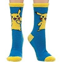 Pokemon Pikachu Fuzzy Juniors Slipper Socks