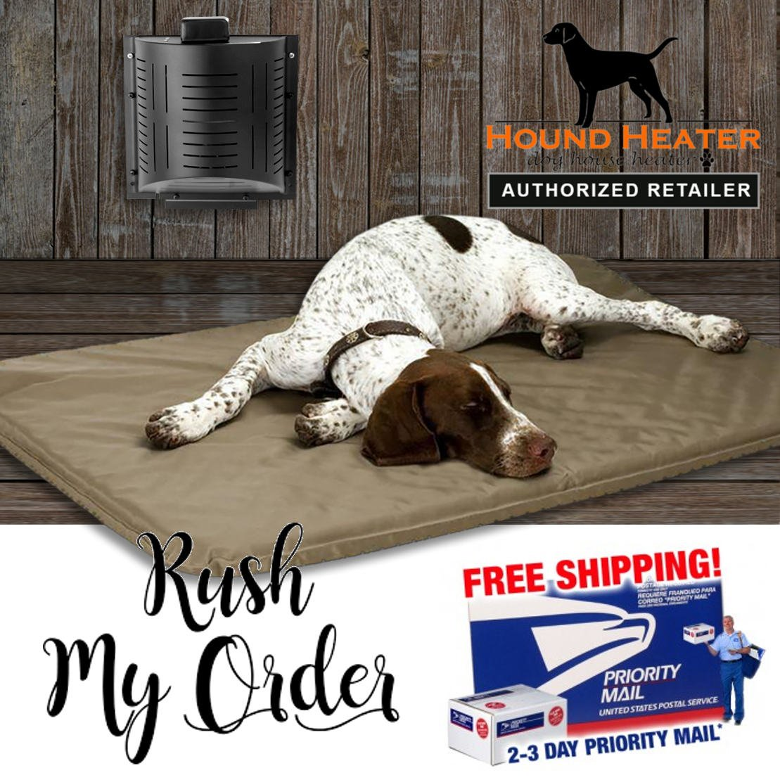 Akoma Dog Products Hound Heater Furnace Deluxe with Cord Predector