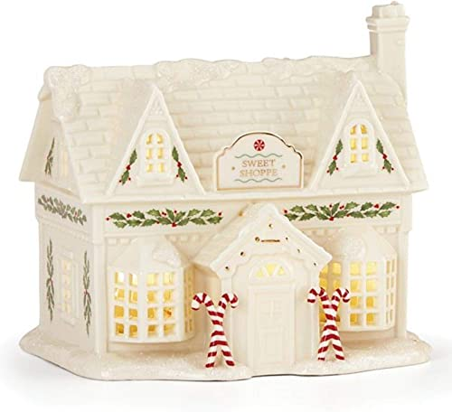 Lenox Illuminated Porcelain Sweet Shop w 24K Accents
