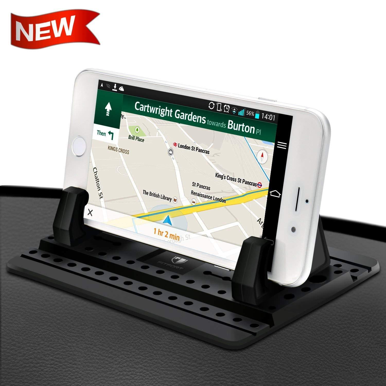 FITFORT Handyhalterung Auto Kfz Armaturenbrett Universal Rutschfest Handyhalter fü r iPhone X 8 7 Plus Galaxy Hinweis 8 S9 S8 Plus S7 Edge und 3-7 Zoll Smartphones oder GPS-Gerä te LEVIN02