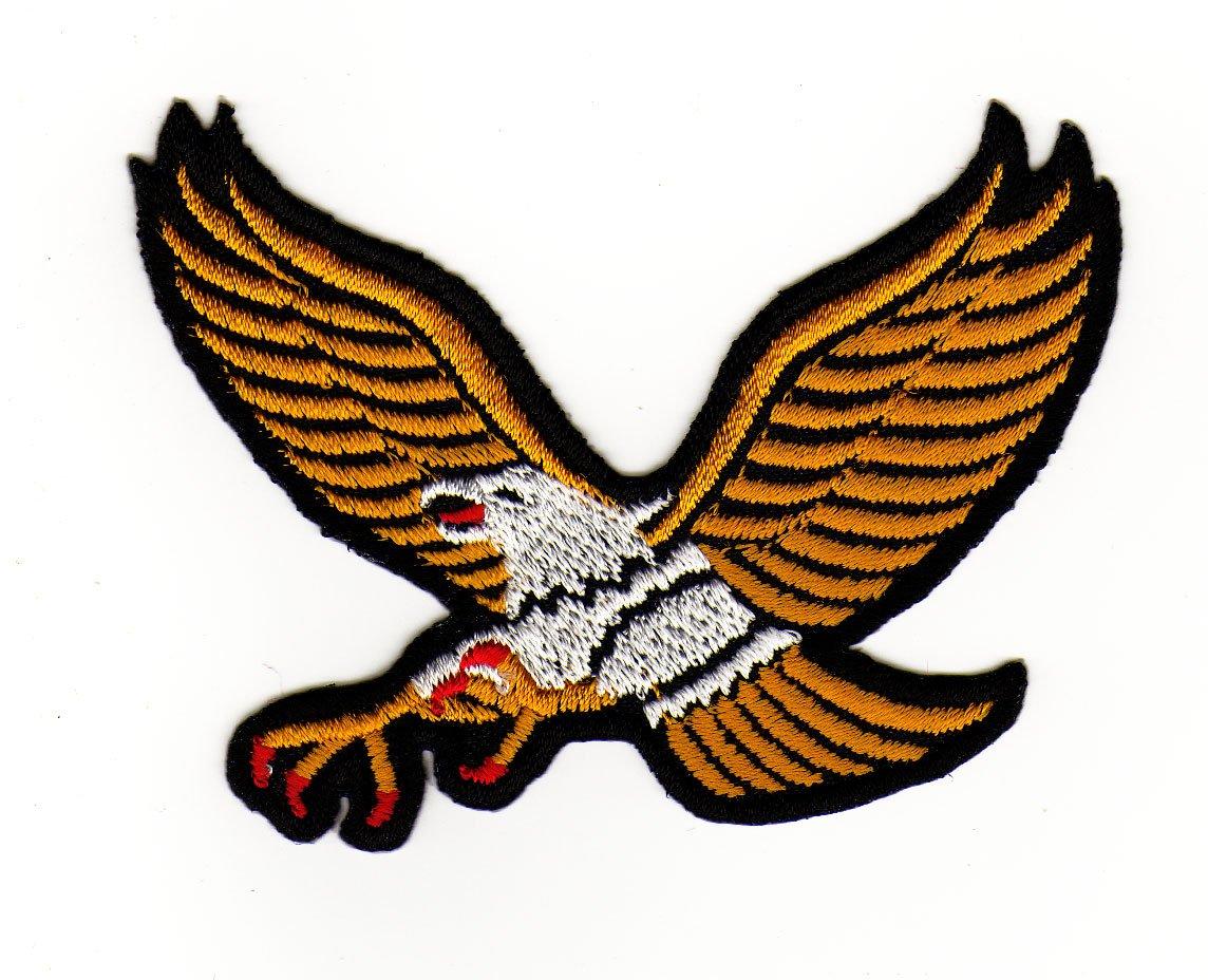 Aufn/äher B/ügelbild Aufb/ügler Iron on Patches Applikation Gelb Adler Eagle
