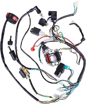 Complete Electrics Coil CDI Wiring Harness ATV KLX Stator 50cc 70cc on 110 loncin wiring diagram, 110 mini chopper wiring diagram, 110 pit bike coil, 110 pit bike honda, 110 pit bike timing, 110 atv wiring diagram, 110 pit bike parts, 110 electrical wiring diagram, 110 pit bike spark plug,