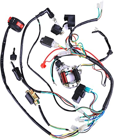 Complete Electrics Coil CDI Wiring Harness ATV KLX Stator 50cc 70cc on switch diagrams, friendship bracelet diagrams, engine diagrams, internet of things diagrams, led circuit diagrams, motor diagrams, smart car diagrams, sincgars radio configurations diagrams, electronic circuit diagrams, lighting diagrams, gmc fuse box diagrams, series and parallel circuits diagrams, pinout diagrams, transformer diagrams, electrical diagrams, troubleshooting diagrams, honda motorcycle repair diagrams, hvac diagrams, battery diagrams,