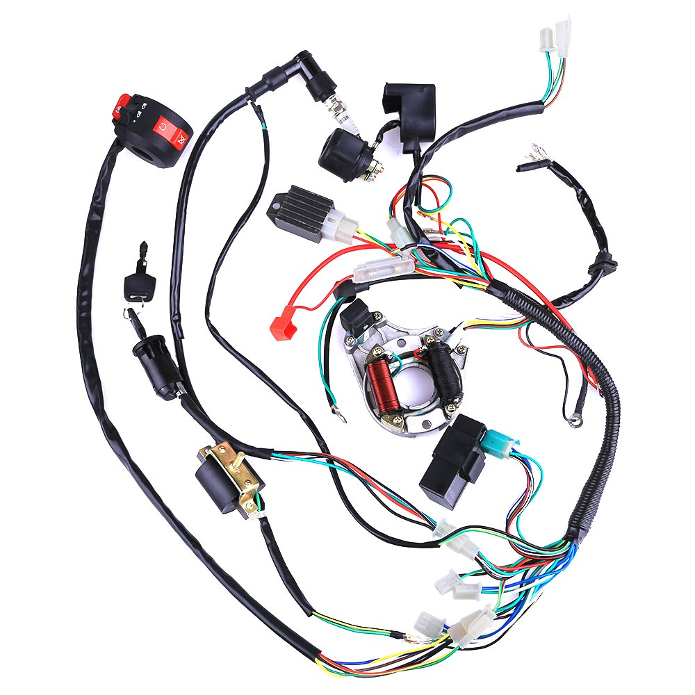 Complete Electrics Coil Cdi Wiring Harness Atv Klx 1953 Lincoln Diagram Stator 50cc 70cc 110cc 125cc Automotive