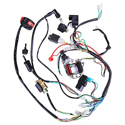 amazon com: complete electrics coil cdi wiring harness atv klx stator 50cc  70cc 110cc 125cc: automotive