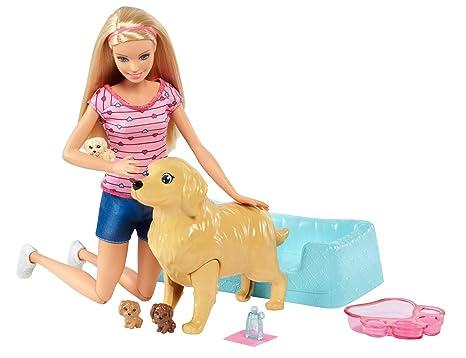Amazon Es Barbie Y Sus Perritos Sorpresa Muneca Con Accesorios